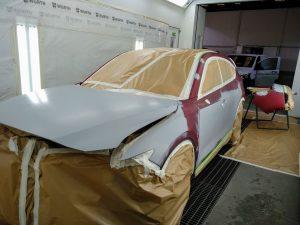 parte delantera del cx5 preparado para pintar un tricapa 46v