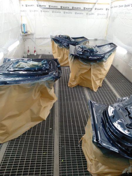 interiores puertas pintados range rover sport